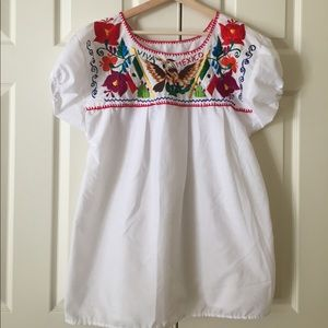 Tops - Chloe embroidered shirt from Mexico.